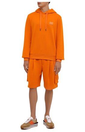 Мужские хлопковые шорты DOLCE & GABBANA оранжевого цвета, арт. GYSJAT/FU7DU | Фото 2