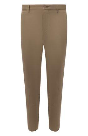 Мужские хлопковые брюки DOLCE & GABBANA бежевого цвета, арт. GWTWEZ/FUFJR | Фото 1 (Материал внешний: Хлопок; Длина (брюки, джинсы): Стандартные; Случай: Повседневный; Силуэт М (брюки): Чиносы; Стили: Кэжуэл)