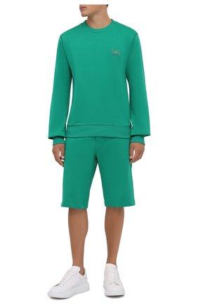 Мужские хлопковые шорты DOLCE & GABBANA зеленого цвета, арт. GWS9AT/FU7DU | Фото 2