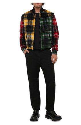 Мужской двусторонний бомбер DOLCE & GABBANA разноцветного цвета, арт. G9UT8Z/FSFAQ   Фото 2 (Материал подклада: Синтетический материал; Длина (верхняя одежда): Короткие; Рукава: Длинные; Материал внешний: Хлопок; Кросс-КТ: Куртка; Мужское Кросс-КТ: утепленные куртки; Принт: С принтом; Стили: Гранж)