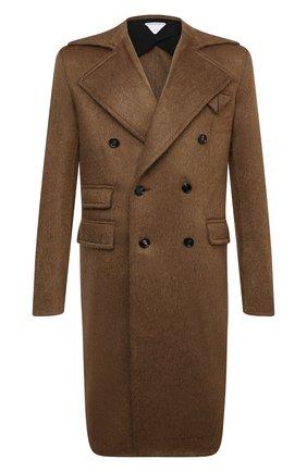 Мужской пальто BOTTEGA VENETA коричневого цвета, арт. 666645/V0XS0 | Фото 1