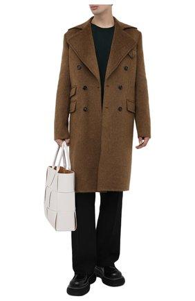 Мужской пальто BOTTEGA VENETA коричневого цвета, арт. 666645/V0XS0 | Фото 2