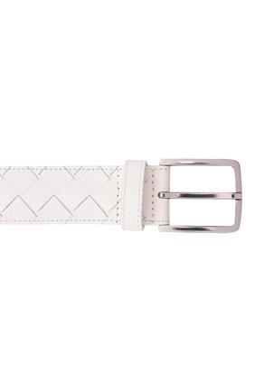 Мужской кожаный ремень BOTTEGA VENETA белого цвета, арт. 609182/VCPQ3 | Фото 4 (Случай: Повседневный)