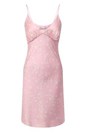 Женское платье LESYANEBO светло-розового цвета, арт. SS21/Н-475A/P | Фото 1 (Длина Ж (юбки, платья, шорты): До колена; Материал внешний: Синтетический материал; Женское Кросс-КТ: Платье-одежда, Сарафаны; Случай: Повседневный; Стили: Романтичный)