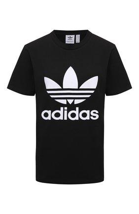 Женская футболка ADIDAS ORIGINALS черного цвета, арт. GN2896 | Фото 1
