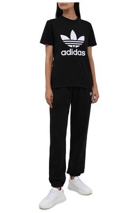 Женская футболка ADIDAS ORIGINALS черного цвета, арт. GN2896 | Фото 2
