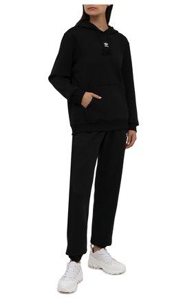 Женский хлопковое худи ADIDAS ORIGINALS черного цвета, арт. H34725 | Фото 2