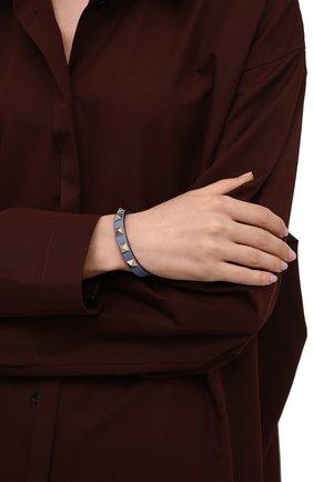 Женский кожаный браслет rockstud VALENTINO светло-голубого цвета, арт. WW2J0255/VIT | Фото 2