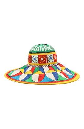 Женская хлопковая шляпа DOLCE & GABBANA разноцветного цвета, арт. FH427A/GDS11   Фото 1