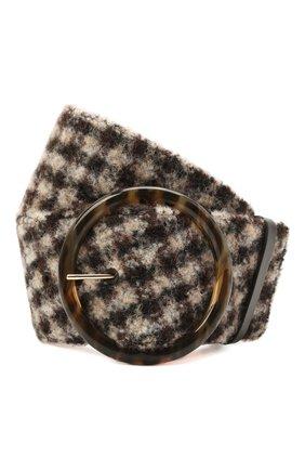 Женский текстильный ремень GIORGIO ARMANI коричневого цвета, арт. Y1I269/YJQ9A | Фото 1 (Материал: Текстиль)