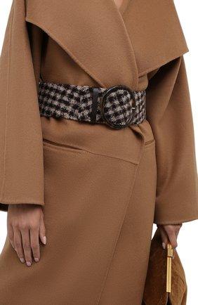 Женский текстильный ремень GIORGIO ARMANI коричневого цвета, арт. Y1I269/YJQ9A | Фото 2 (Материал: Текстиль)