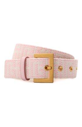 Женский текстильный ремень b-classic BALMAIN светло-розового цвета, арт. WN1WA038/TJMA   Фото 1