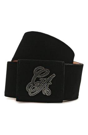 Женский текстильный ремень GIORGIO ARMANI черного цвета, арт. Y1I117/YQR2X | Фото 1 (Материал: Текстиль)
