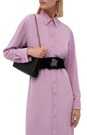 Женский текстильный ремень GIORGIO ARMANI черного цвета, арт. Y1I117/YQR2X | Фото 2 (Материал: Текстиль)