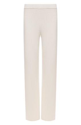 Женские брюки из шерсти и кашемира MANZONI24 кремвого цвета, арт. 21M363-X/38-46 | Фото 1 (Материал внешний: Шерсть, Кашемир; Длина (брюки, джинсы): Стандартные; Женское Кросс-КТ: Брюки-одежда; Силуэт Ж (брюки и джинсы): Прямые; Стили: Спорт-шик)