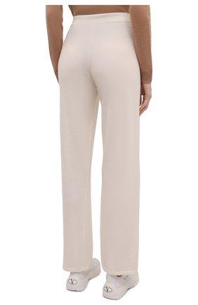 Женские брюки из шерсти и кашемира MANZONI24 кремвого цвета, арт. 21M363-X/38-46 | Фото 4 (Материал внешний: Шерсть, Кашемир; Длина (брюки, джинсы): Стандартные; Женское Кросс-КТ: Брюки-одежда; Силуэт Ж (брюки и джинсы): Прямые; Стили: Спорт-шик)