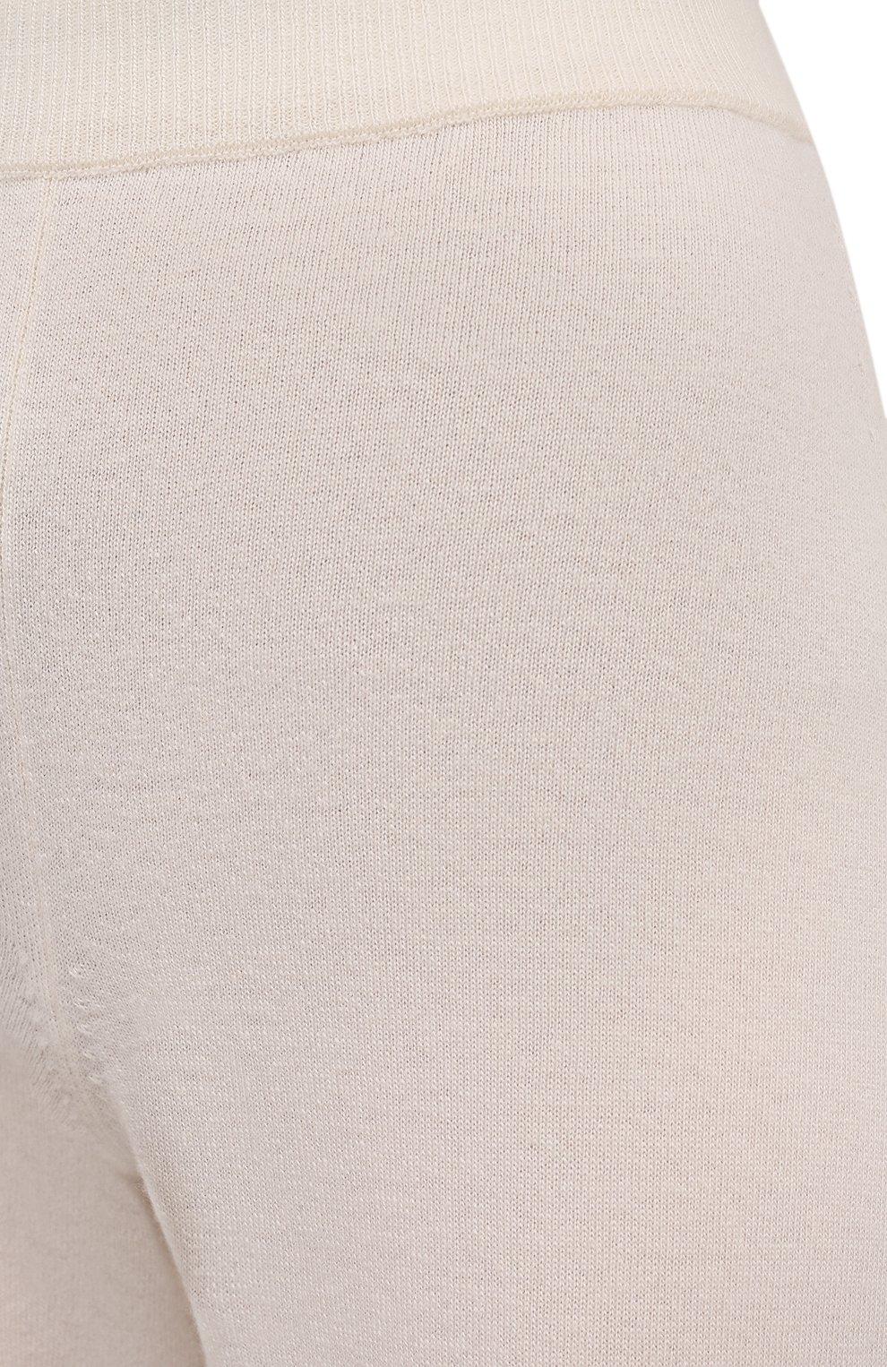 Женские брюки из шерсти и кашемира MANZONI24 кремвого цвета, арт. 21M363-X/38-46 | Фото 5 (Материал внешний: Шерсть, Кашемир; Длина (брюки, джинсы): Стандартные; Женское Кросс-КТ: Брюки-одежда; Силуэт Ж (брюки и джинсы): Прямые; Стили: Спорт-шик)