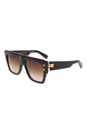 Женские солнцезащитные очки BALMAIN темно-синего цвета, арт. BPS-100E-56   Фото 1 (Тип очков: С/з; Очки форма: Over-size)