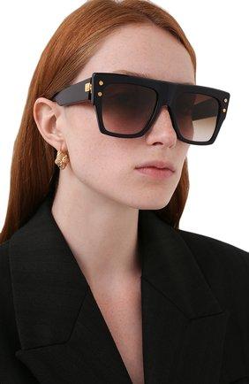 Женские солнцезащитные очки BALMAIN темно-синего цвета, арт. BPS-100E-56   Фото 2 (Тип очков: С/з; Очки форма: Over-size)