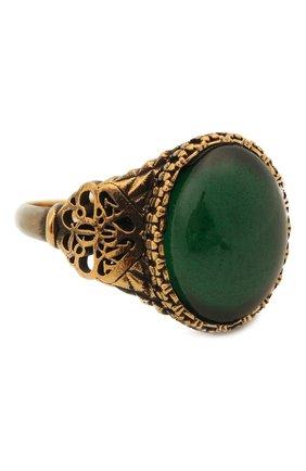 Женское кольцо ALEXANDER MCQUEEN изумрудного цвета, арт. 667568/I4620 | Фото 1