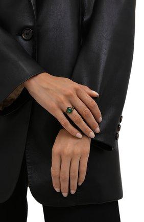 Женское кольцо ALEXANDER MCQUEEN изумрудного цвета, арт. 667568/I4620 | Фото 2