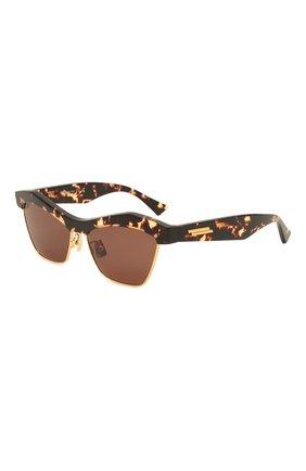 Женские солнцезащитные очки BOTTEGA VENETA коричневого цвета, арт. 668007/V2331   Фото 1