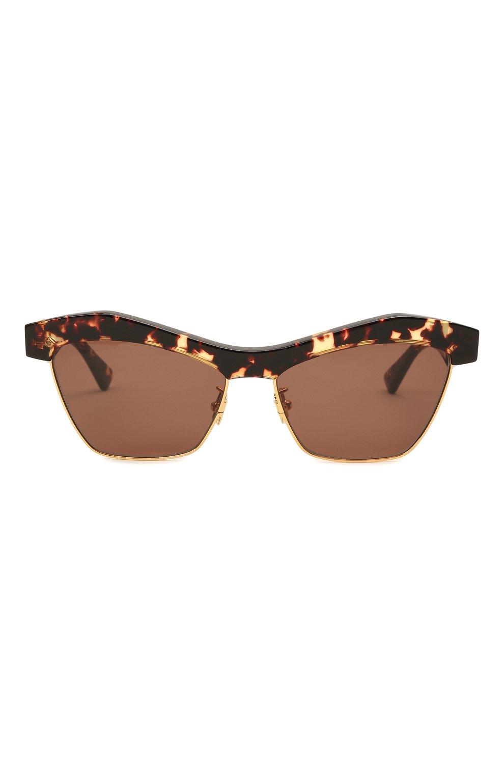 Женские солнцезащитные очки BOTTEGA VENETA коричневого цвета, арт. 668007/V2331   Фото 3