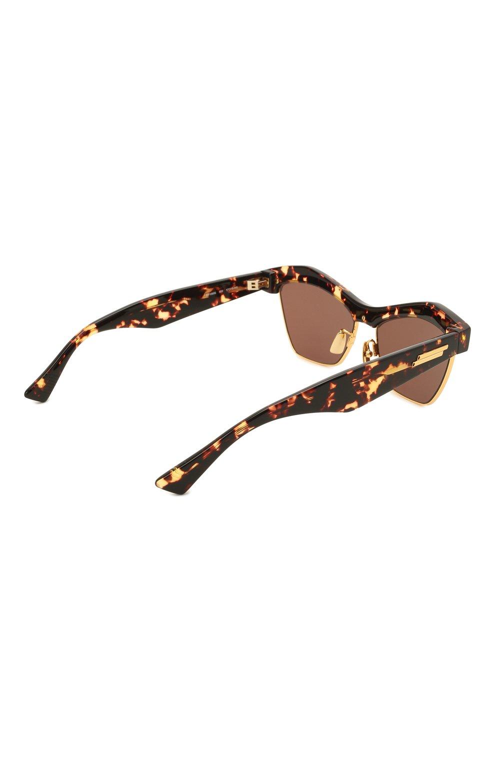Женские солнцезащитные очки BOTTEGA VENETA коричневого цвета, арт. 668007/V2331   Фото 4