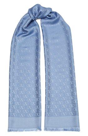 Женская палантин  VALENTINO голубого цвета, арт. WW2ED007/AJB | Фото 1