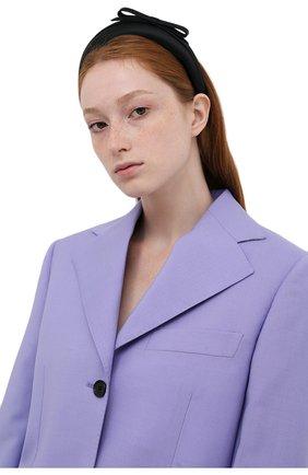 Женский ободок для волос REDVALENTINO черного цвета, арт. WQ2J0B80/SXC   Фото 2