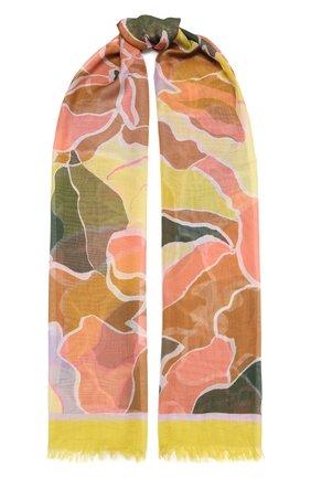 Женский шарф DRIES VAN NOTEN желтого цвета, арт. 212-031305-3335 | Фото 1