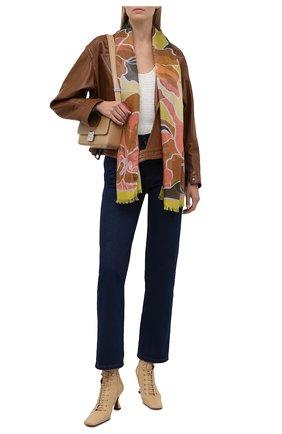 Женский шарф DRIES VAN NOTEN желтого цвета, арт. 212-031305-3335 | Фото 2