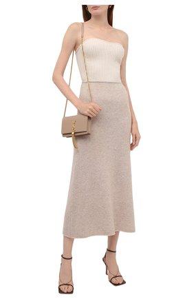 Женская кашемировая юбка TOTÊME кремвого цвета, арт. 213-346-764 | Фото 2