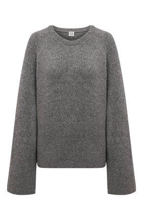 Женский шерстяной свитер TOTÊME серого цвета, арт. 213-563-756 | Фото 1