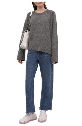 Женский шерстяной свитер TOTÊME серого цвета, арт. 213-563-756 | Фото 2
