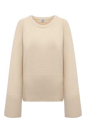 Женский шерстяной свитер TOTÊME кремвого цвета, арт. 213-563-756 | Фото 1