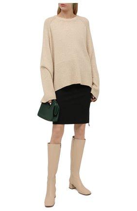 Женский шерстяной свитер TOTÊME кремвого цвета, арт. 213-563-756 | Фото 2