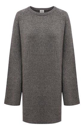 Женский шерстяной свитер TOTÊME серого цвета, арт. 213-564-756 | Фото 1
