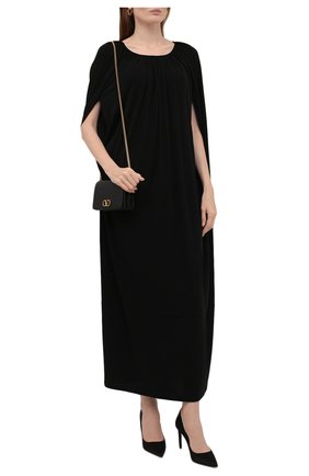 Женское платье из вискозы TOTÊME черного цвета, арт. 213-641-778 | Фото 2