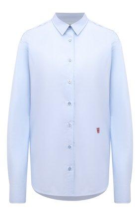 Женская хлопковая рубашка TOTÊME светло-голубого цвета, арт. 213-708-711 | Фото 1
