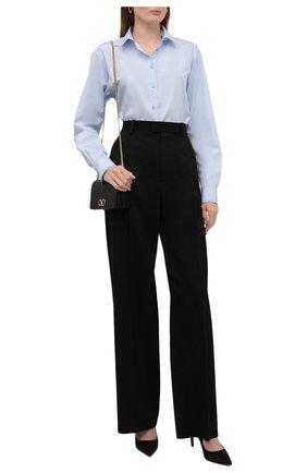 Женская хлопковая рубашка TOTÊME светло-голубого цвета, арт. 213-708-711 | Фото 2