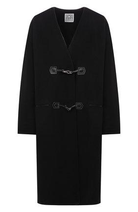 Женское пальто из шерсти и кашемира TOTÊME черного цвета, арт. 213-104-717 | Фото 1