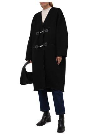 Женское пальто из шерсти и кашемира TOTÊME черного цвета, арт. 213-104-717 | Фото 2
