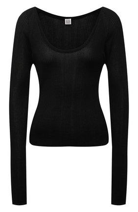 Женский пуловер из вискозы TOTÊME черного цвета, арт. 213-568-761 | Фото 1