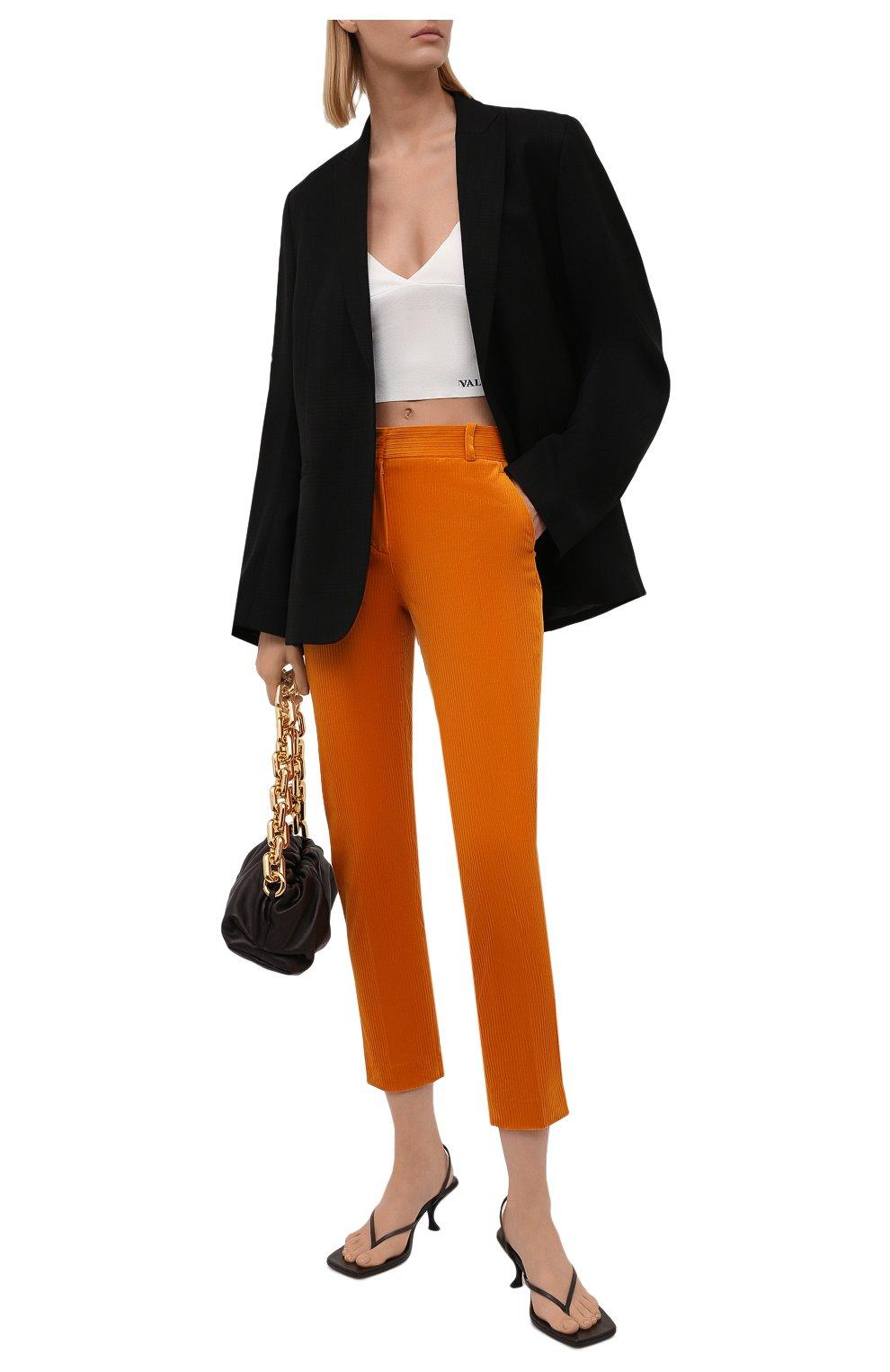 Женские вельветовые брюки LORO PIANA оранжевого цвета, арт. FAL9505   Фото 2