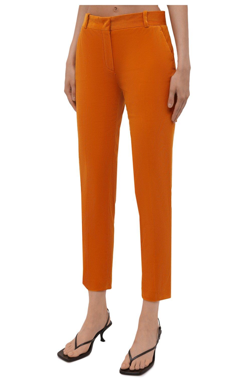 Женские вельветовые брюки LORO PIANA оранжевого цвета, арт. FAL9505   Фото 3