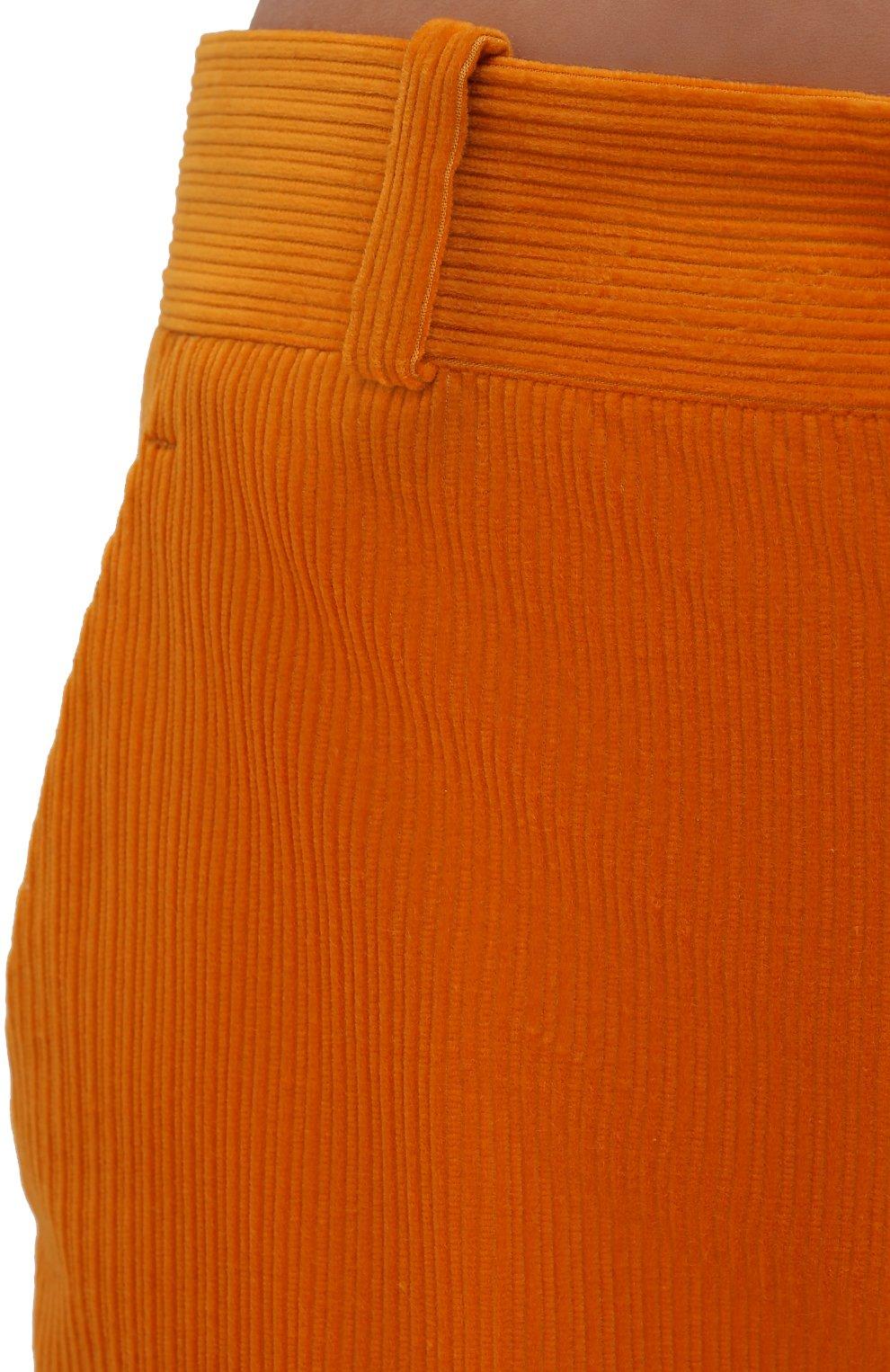 Женские вельветовые брюки LORO PIANA оранжевого цвета, арт. FAL9505   Фото 5