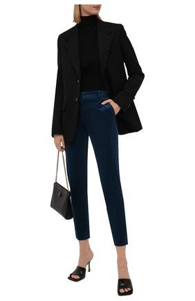 Женские вельветовые брюки LORO PIANA темно-синего цвета, арт. FAL9505   Фото 2