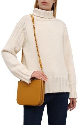 Женская сумка my way small LORO PIANA горчичного цвета, арт. FAL8160   Фото 2 (Материал: Натуральная кожа; Сумки-технические: Сумки через плечо; Ремень/цепочка: На ремешке; Размер: small)