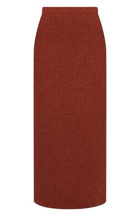 Женская кашемировая юбка LORO PIANA  цвета, арт. FAL7531 | Фото 1 (Материал внешний: Кашемир, Шерсть; Женское Кросс-КТ: Юбка-одежда; Длина Ж (юбки, платья, шорты): Миди; Стили: Кэжуэл)